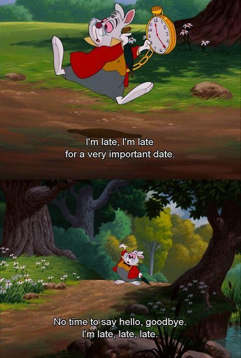 I'm late Alice in Wonderland