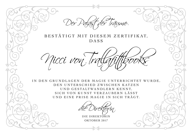 Trallafittibooks Zertifikat