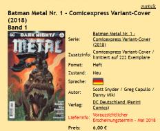 Batman Metal Comicexpress