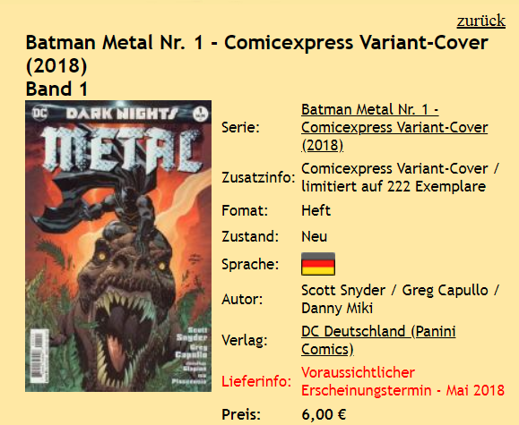 Batman Metal Comicexpress