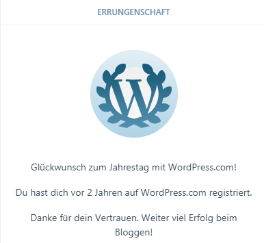 Blogjubiläum WordPress