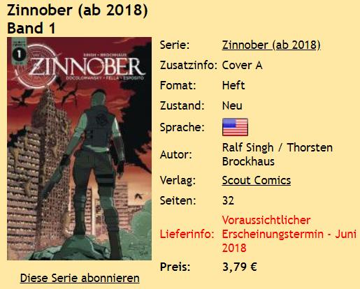 Zinnober Band 1
