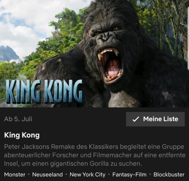 King Kong Remake